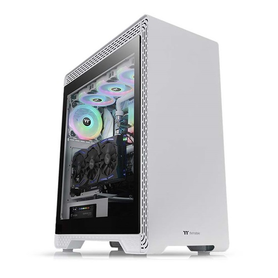 Thermaltake S500 Tempered Glass Snow Edition Mid-Tower Chassis (CA-1O3-00M6WN-00) (THECA-1O3-00M6WN-00)