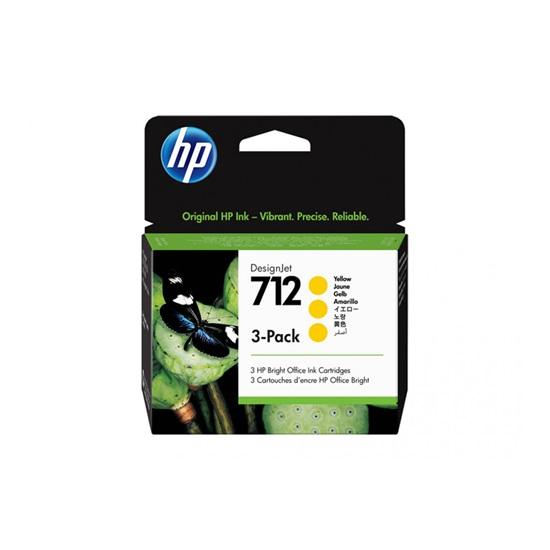 HP Μελάνι Inkjet No.712 Yellow 3-Pack (3ED79A) (HP3ED79A)