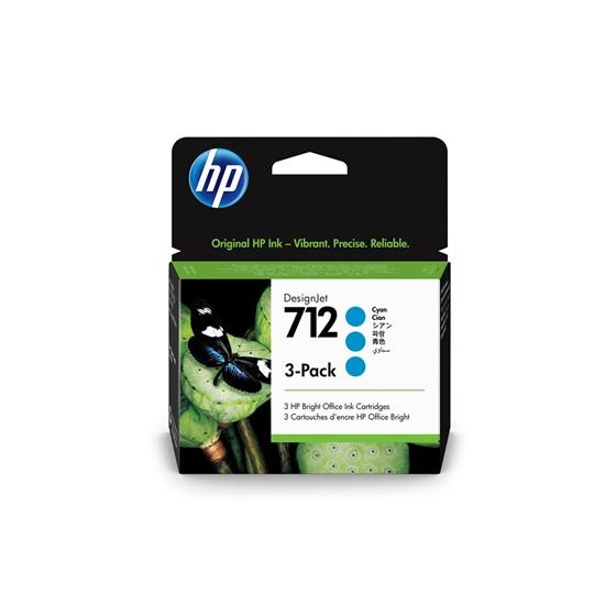 HP Μελάνι Inkjet No.712 Cyan 3-Pack (3ED77A) (HP3ED77A)
