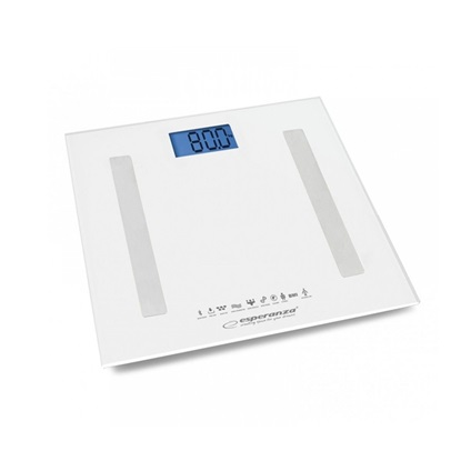 Esperanza Smart Ζυγαριά με Λιπομετρητή & Bluetooth σε Λευκό χρώμα (EBS016W) (ESPEBS016W)