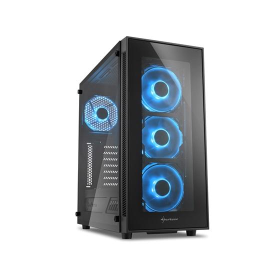 Sharkoon TG5 Blue PC Case (TG5BLUE) (SHRTG5BLUE)