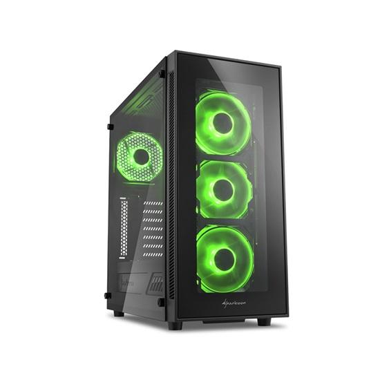Sharkoon TG5 Green PC Case (TG5GREEN) (SHRTG5GREEN)