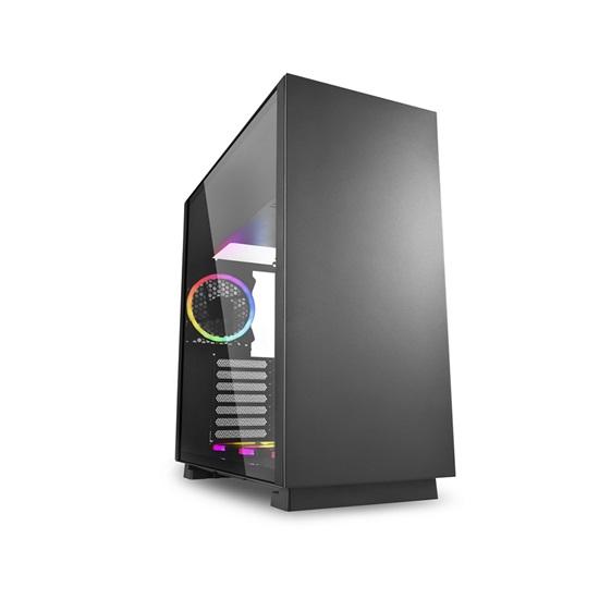 Sharkoon Pure Steel RGB Black PC Case (PURESTEELRGBBK) (SHRPURESTEELRGBBK)