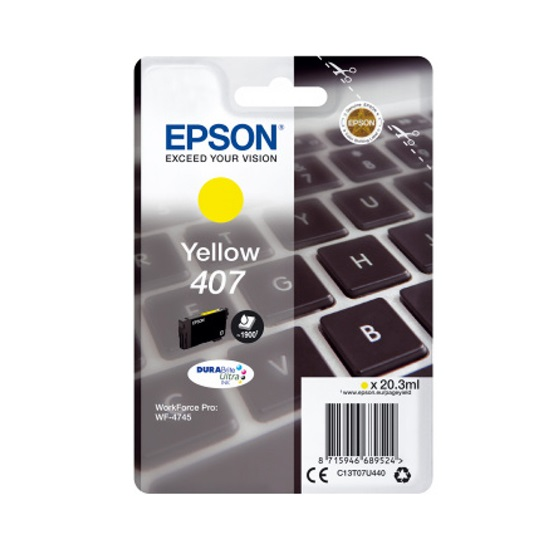 Epson 407 Yellow (C13T07U440) (EPST07U440)